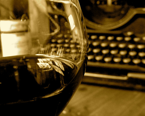 wine typerwriter